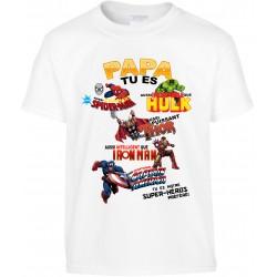 T-shirt enfant Papa tu es notre super-héros préféré Cadeau D'amour