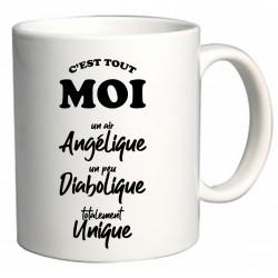 Mug C'est tout moi un air Angélique un peu Diabolique totalement Unique Cadeau D'amour