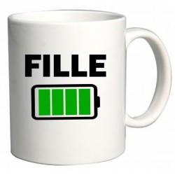 Mug Fille batterie pleine Cadeau D'amour