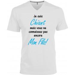 T-shirt homme Col V Je suis Chiant mais vous ne connaissez pas encore Mon Fils! Cadeau D'amour