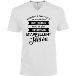 T-shirt homme Col V les plus importants m'appellent Tonton Cadeau D'amour