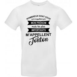 T-shirt homme Col Rond les plus importants m'appellent Tonton Cadeau D'amour