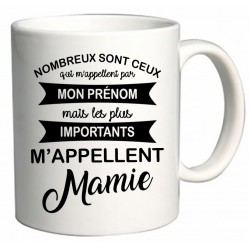 Mug les plus importants m'appellent Mamie Cadeau D'amour
