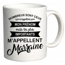 Mug les plus importants m'appellent Marraine Cadeau D'amour