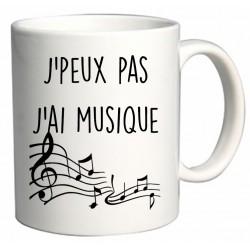 Mug J'peux pas J'ai Musique Cadeau D'amour