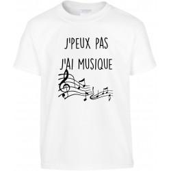 T-shirt enfant J'peux pas J'ai Musique Cadeau D'amour