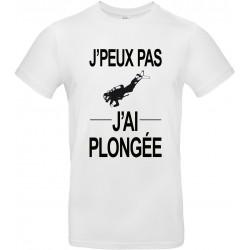 T-shirt homme Col Rond J'peux pas J'ai plongée Cadeau D'amour