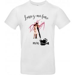 T-shirt homme Col Rond Laissez moi faire Mon Cinéma Cadeau D'amour
