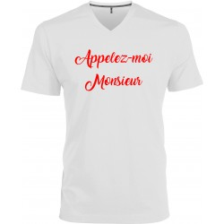 T-shirt homme Col V Appelez-moi Monsieur Cadeau D'amour