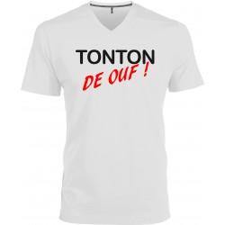 T-shirt homme Col V Tonton de Ouf ! Cadeau D'amour