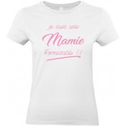 T-shirt femme Col Rond je suis une Mamie formidable!! Cadeau D'amour