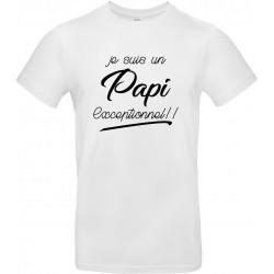 T-shirt homme Col Rond Je suis un Papi Exceptionnel !! Cadeau D'amour