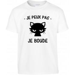 T-shirt enfant Je peux pas je Boude Cadeau D'amour