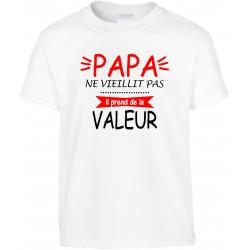 T-shirt enfant Papa ne vieillit pas il prend de la Valeur Cadeau D'amour