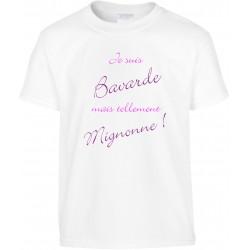 T-shirt enfant Je suis Bavarde mais tellement Mignonne Cadeau D'amour
