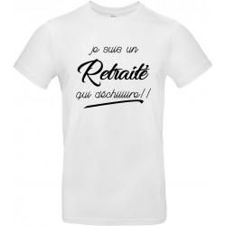 T-shirt homme Col Rond Je suis un retraité qui déchiiiiire Cadeau D'amour