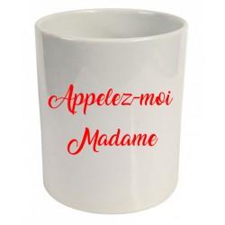 Pot à crayons appelez-moi madame Cadeau D'amour