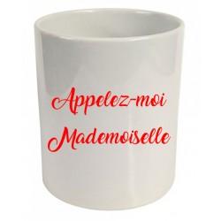 Pot à crayons appelez-moi mademoiselle Cadeau D'amour
