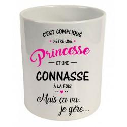 Pot à crayons c'est compliqué d'être une princesse et une connasse à la fois. Cadeau D'amour