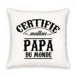 Coussin carré certifié meilleur papa Cadeau D'amour