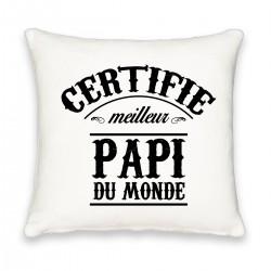 Coussin carré certifié meilleur papi Cadeau D'amour