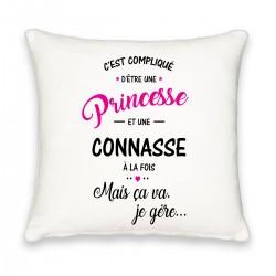Coussin carré c'est compliqué d'être une princesse et connasse Cadeau D'amour