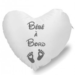 Coussin Cœur bébé à bord Cadeau D'amour