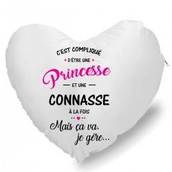 Coussin Cœur c'est compliqué d'être princesse et connasse à la fois mais sa vas je gère... Cadeau D'amour