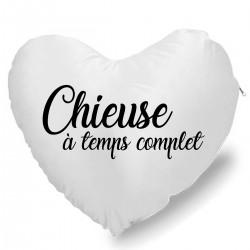 Coussin Cœur chieuse à temps complet Cadeau D'amour