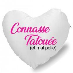 Coussin Cœur connasse tatoué Cadeau D'amour