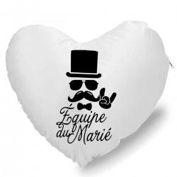 Coussin Cœur équipe du marié Cadeau D'amour