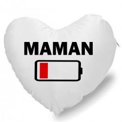 Coussin Cœur Maman batterie à plat Cadeau D'amour