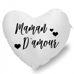 Coussin Cœur maman d'amour Cadeau D'amour