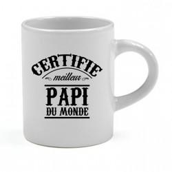Tasse expresso Certifié meilleur Papi du Monde Cadeau D'amour
