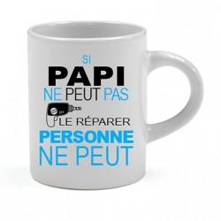 Tasse expresso Si Papi ne peut pas le réparer personne ne peut Cadeau D'amour