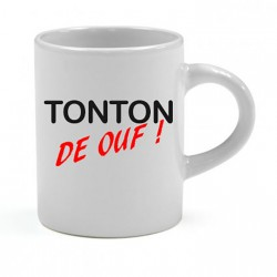 Tasse expresso Tonton de ouf Cadeau D'amour