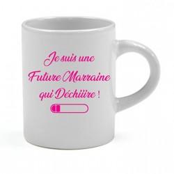 Tasse expresso Je suis une Future Marraine qui Déchiiire Cadeau D'amour