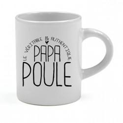 Tasse expresso Le véritable & authentique Papa Poule Cadeau D'amour