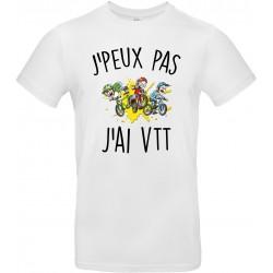 T-shirt homme Col Rond J'peux pas J'ai VTT Cadeau D'amour