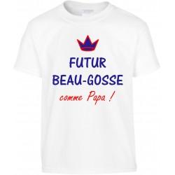T-shirt enfant Futur Beau-Gosse comme Papa Cadeau D'amour