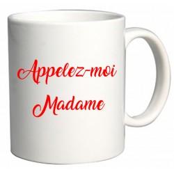 Mug Appelez-moi Madame Cadeau D'amour