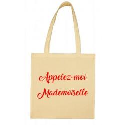 Tote bag Appelez-moi Mademoiselle Cadeau D'amour