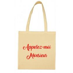 Tote bag Appelez-moi Monsieur Cadeau D'amour