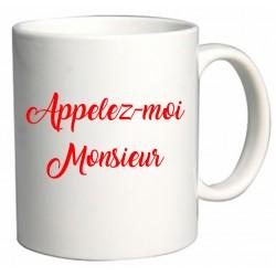 Mug Appelez-moi Monsieur Cadeau D'amour