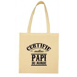 Tote bag Certifié meilleur Papi du Monde Cadeau D'amour