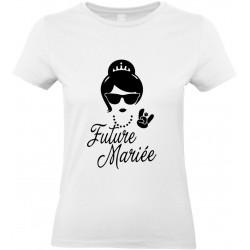 T-shirt femme Col Rond Future mariée Cadeau D'amour