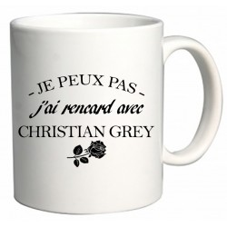 Mug Je ne peux pas j'ai rencard avec Christian Grey Cadeau D'amour