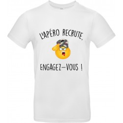 T-shirt homme Col Rond l'Apéro Recrute Engagez Vous Cadeau D'amour