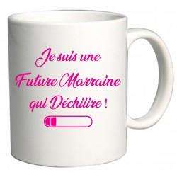 Mug Je suis une Future Marraine qui Déchiiire Cadeau D'amour