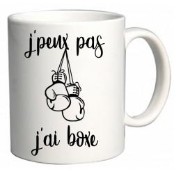 Mug J'peux pas J'ai boxe Cadeau D'amour